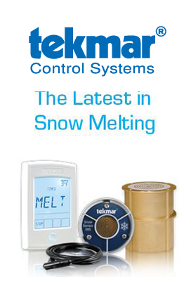 tekmar Control Systems has the latest in snow melting technology.